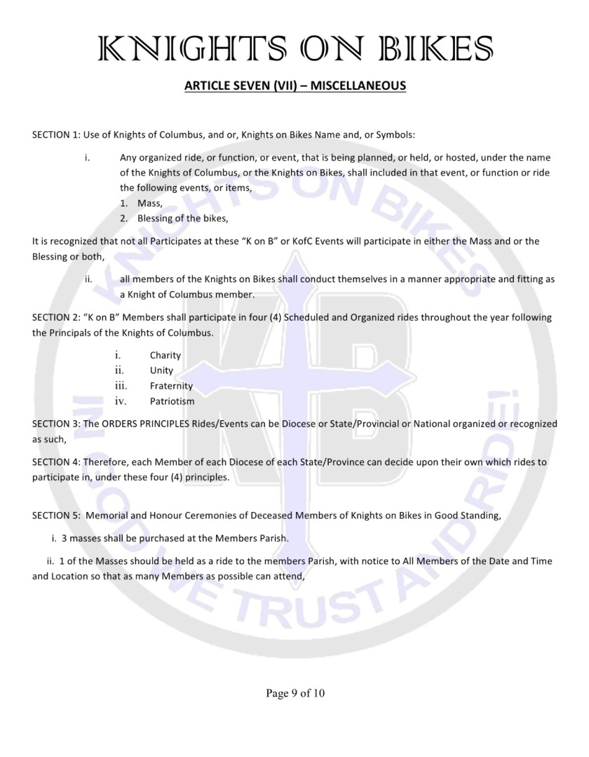 12 bylaws
